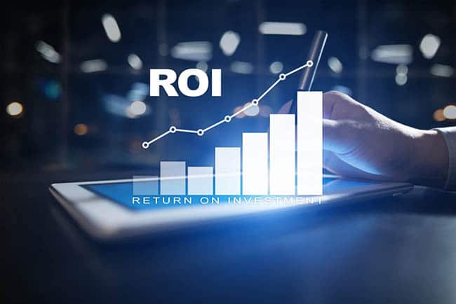 Graph of improving ROI