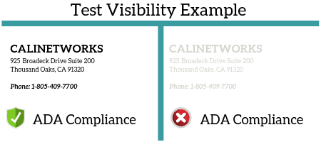 ADA Compliance Test Visibility Example