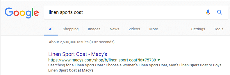 Google result for linen sports coat
