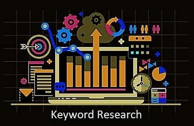 Colorful Graphic of Keyword Research