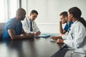 Doctors at a business meeting
