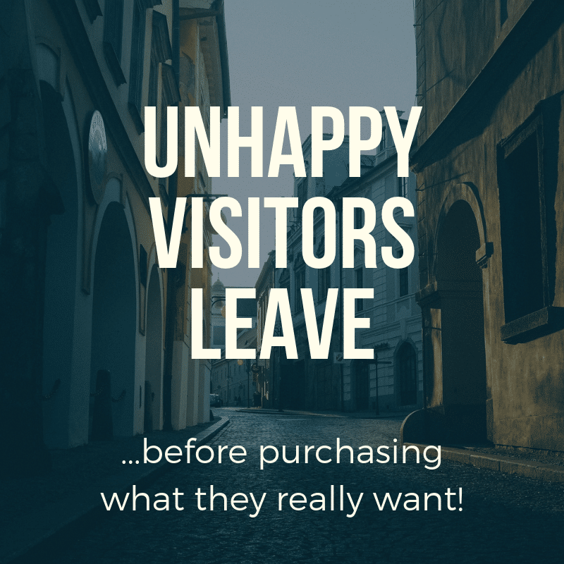 Unhappy website visitors leave