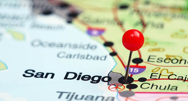 San Diego on map