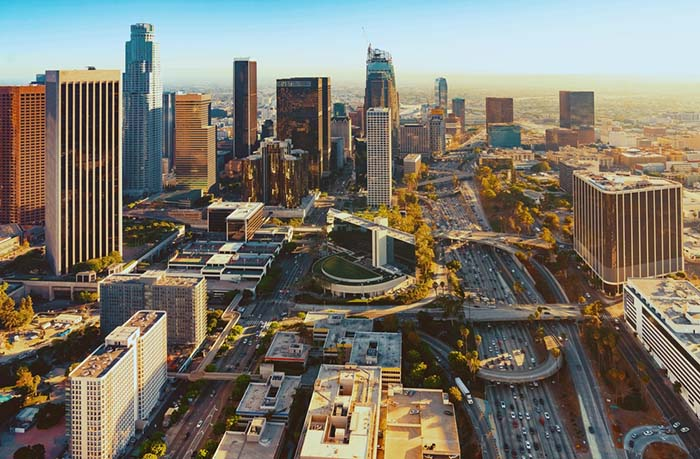 City of Los Angeles from above
