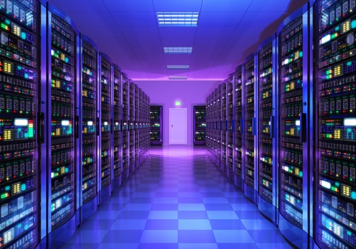 image of computer servers in a room